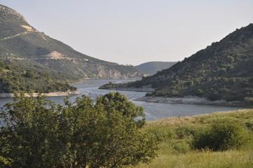 The beautiful Akrounta Dam in Cyprus
