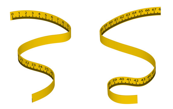 Body measuring tape measure. Fitness, weight loss. Body volume.