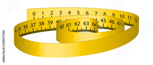 Body measuring tape measure  Fitness, weight loss  Body