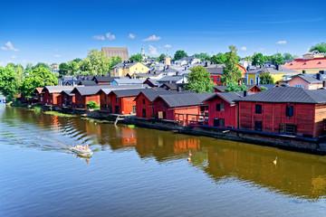 Stadt Porvoo am Fluss Porvoonjoki, Finnland