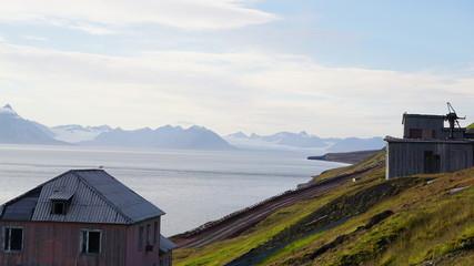Landschaft Barentsburg auf Spitzbergen