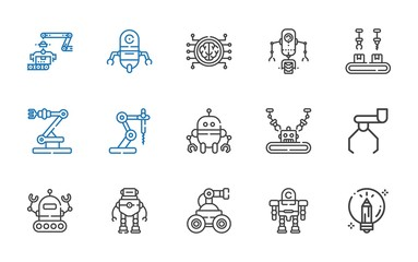 intelligence icons set