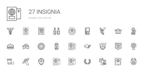 insignia icons set