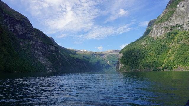 Fjord in Norwegen (Geirangerfjord)