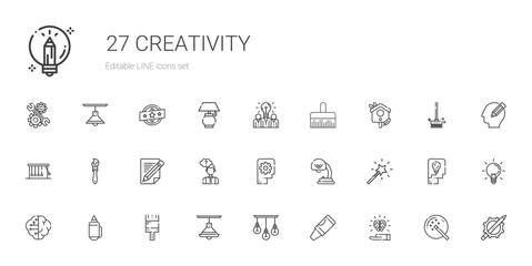 creativity icons set