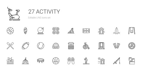 activity icons set