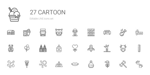 cartoon icons set