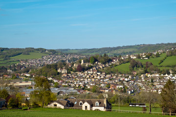Stroud town sits in an area known as The Five Valleys on the edge of the Cotswold escarpment in Gloucestershire, UK