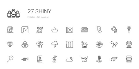 shiny icons set