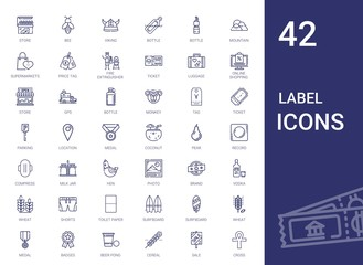 label icons set