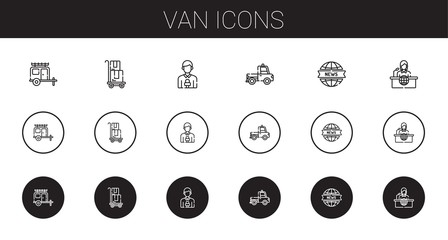van icons set