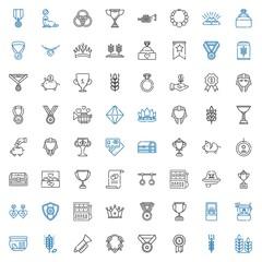 gold icons set