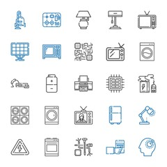 electrical icons set