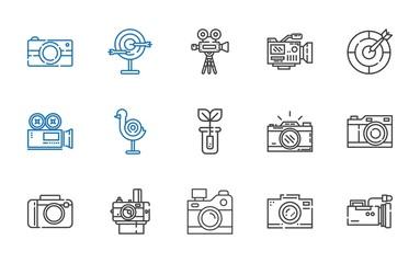 shoot icons set