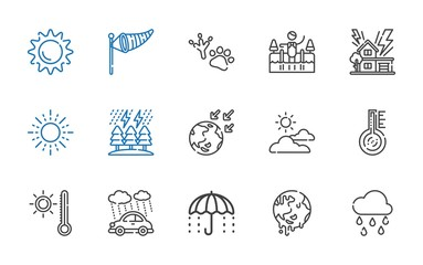climate icons set