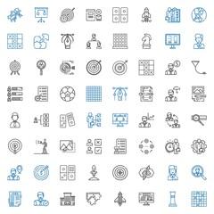 strategy icons set