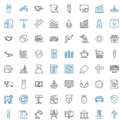 drawing icons set