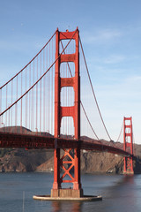 View of the Golden Gate Bridge . San Francisco, California, USA.