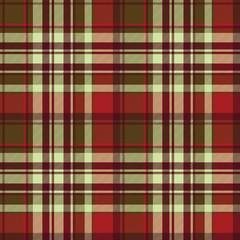 Classic red tartan diagonal seamless fabric texture