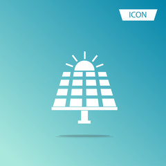 Solar panel icon vector isolated on white background