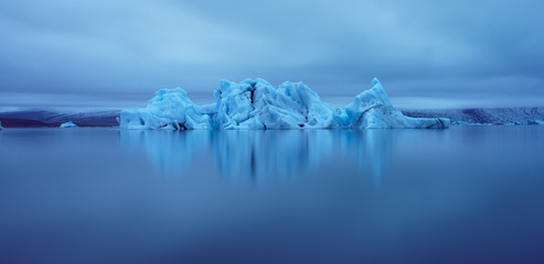 Iceberg on Jokulsarlon Glacier Lagoon, Iceland