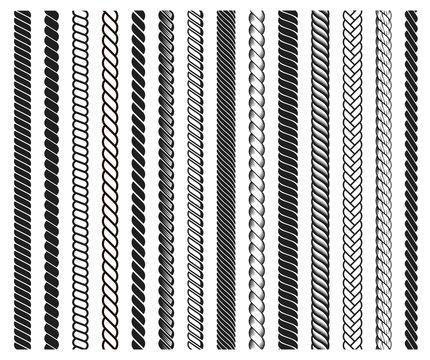Rope brushes frame, decorative black line set