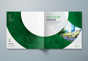Square Brochure Cover Layouts with Circle Elements