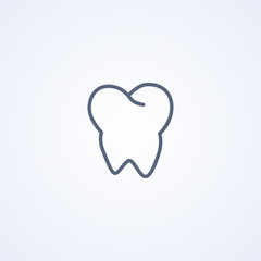 Dentistry, Tooth , vector best line icon