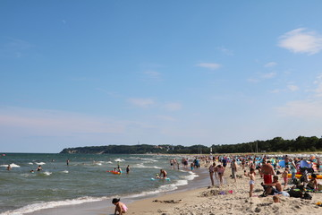 Summer in Göhren at beach at Island Rügen, Baltic Sea Germany