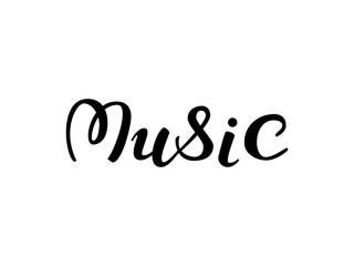 Music lettering. Vector illustration