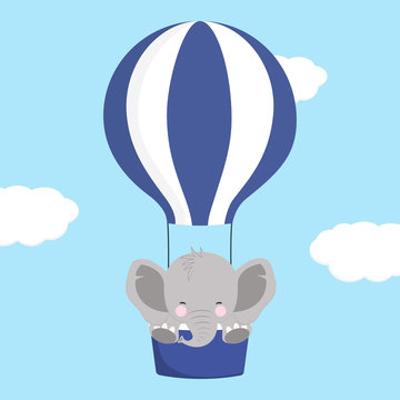 elephant on air balloon