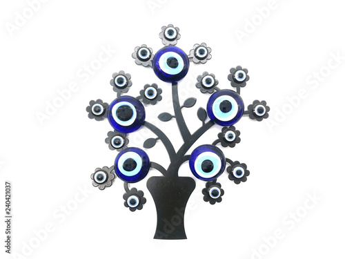 Nazar Charms To Ward Off The Evil Eye On The Branches Of