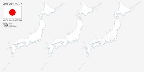 日本地図_Design Map #Map of japan