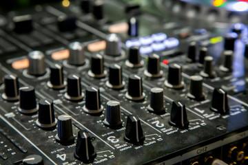 Professional party DJ Sound Mixer controller.