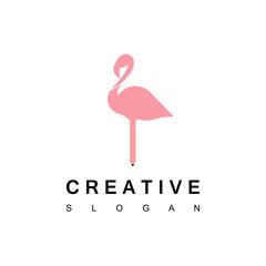 Creative Flamingo Logo Design Inspiration