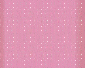 Pink retro vector background with white round dots, scuffles and edges in the shade.