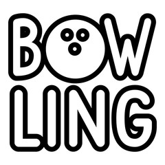 Bowling icon. Outline bowling vector icon for web design isolated on white background