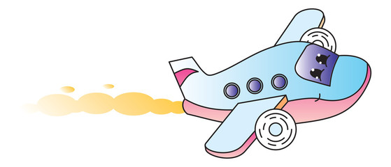 Plane cartoon character
