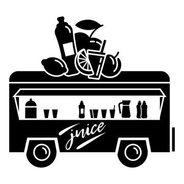 Trailer juice shop icon. Simple illustration of trailer juice shop vector icon for web design isolated on white background