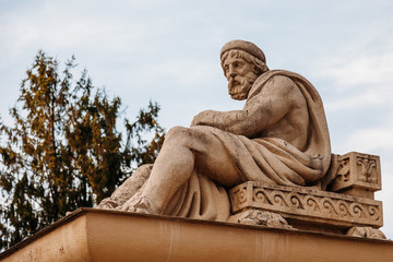 sculpture ancient Greek God of healing Asclepius (Aesculapius)