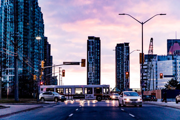 Mississauga Canada skyline at sunset Wall mural