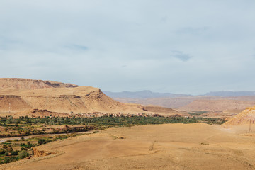 oasis and desert in Morocco