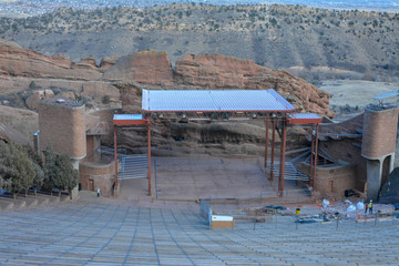 Red Rocks park amphitheater in Denver Colorado.