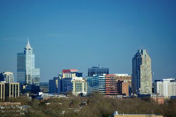 Downtown Raleigh, North Carolina Metro Building Skyline