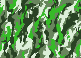 texture military camouflage army hunting. Camouflage pattern background. Classic clothing style masking camo  print. four colors forest texture. Vector illustration.