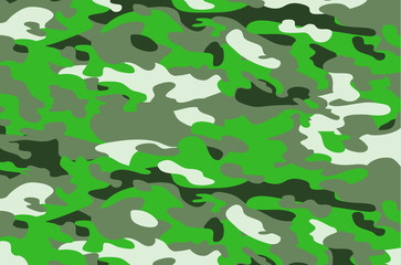 Camouflage military background. Abstract military or hunting camouflage background. Woodland seamless camo texture vector. Shapes of foliage and branches. Army camo clothing background.