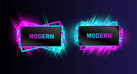 Modern banner frame collection design for your business, marketing price tag. vector illustration.