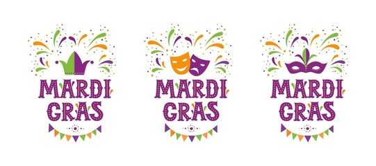 Mardi gras carnival party design Wall mural