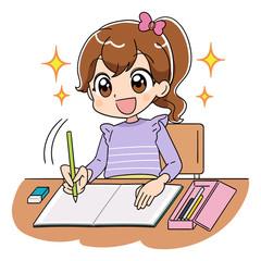 女の子 勉強