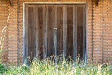 old wooden door in house